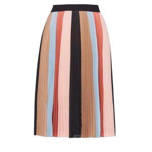BCBGMaxAzria multicolor pleated skirt